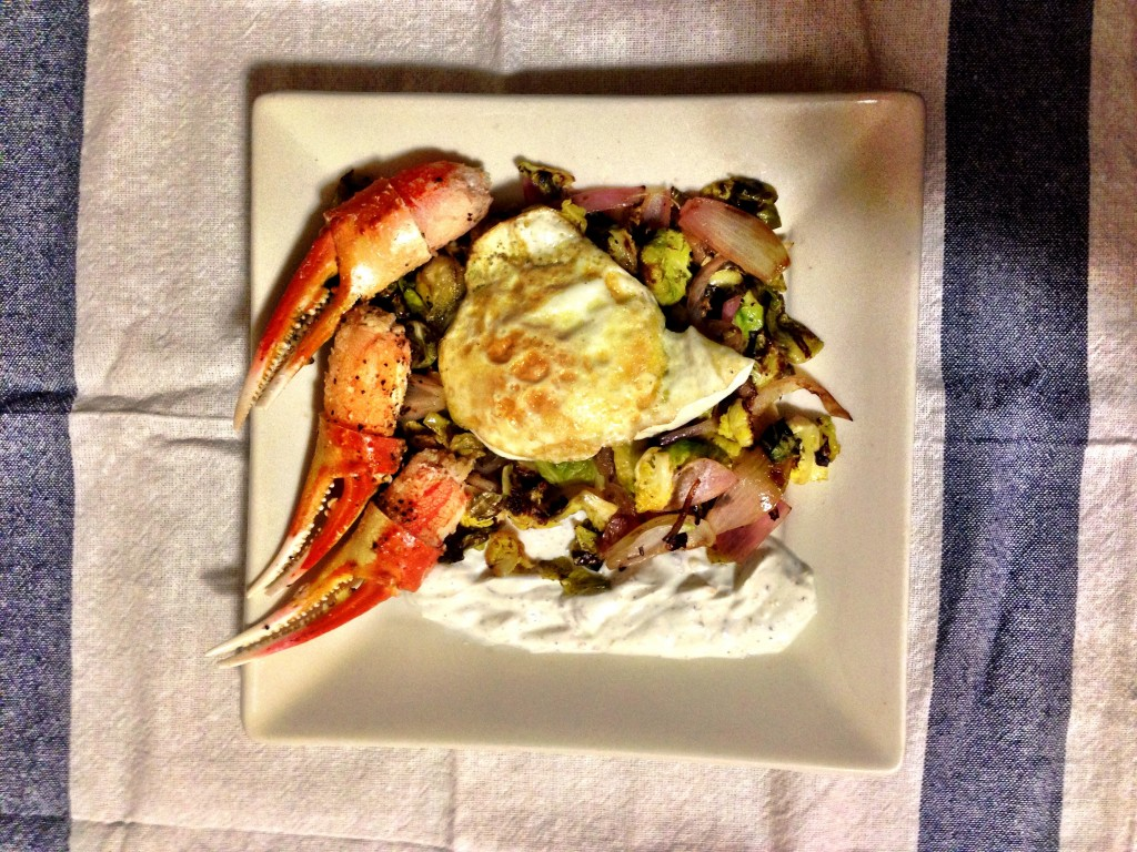 See Jane Cook: Brussels Sprouts with Fried Egg and Curry Spiced Yogurt ...